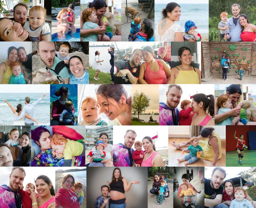 Familienfotos mit Kleinkind
