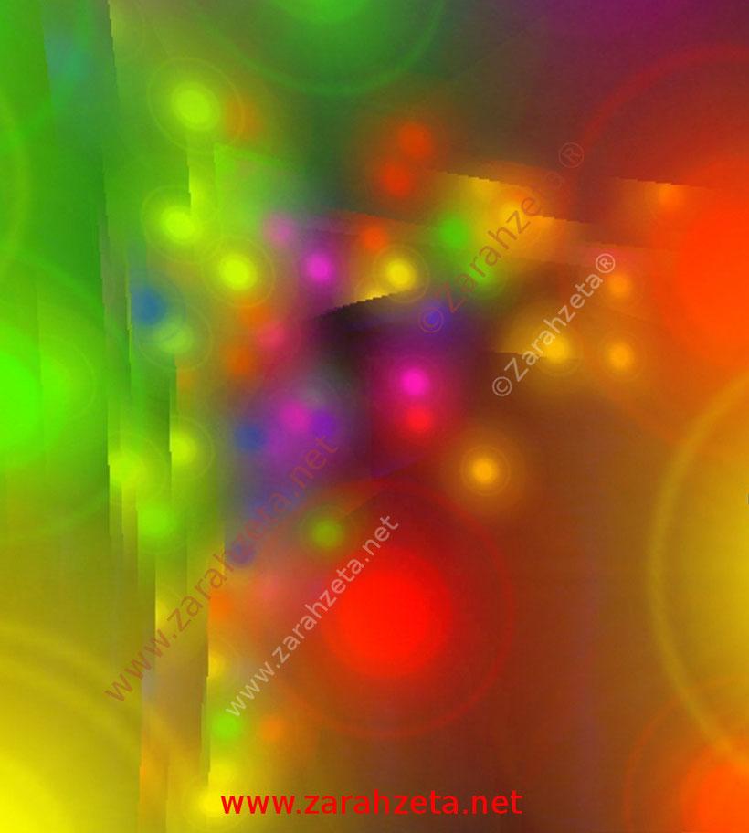 Zarahzeta mit Grafik von bunten Lichtern