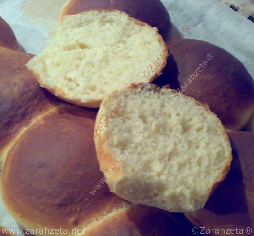 Frisch gebackene Milchbrötchen