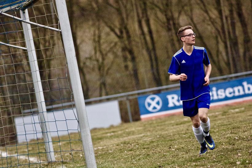 Youngster: Moritz Payer ist frisch aus der Jugend und mittlerweile gesetzte Stammkraft beim FC Erzberg-Wörnitz. Zusammen mit seinem Spielkameraden gelang es ihm nicht, einen Punkt aus Schopfloch zu entführen.
