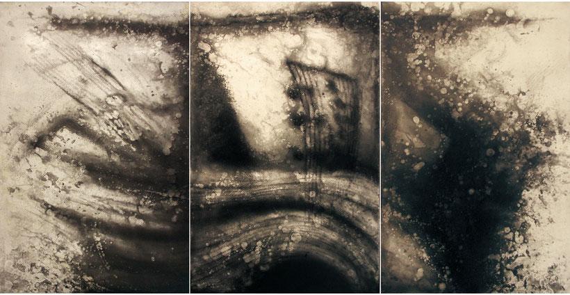 36.2℃ 腐蝕銅版画 800×1500mm 卒業制作