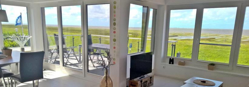 Der Meerblick aus der Ferienwohnung Küstentraum in Cuxhaven Duhnen