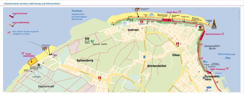 Hundestrände zwischen Sahlenburg und Grimmershörn