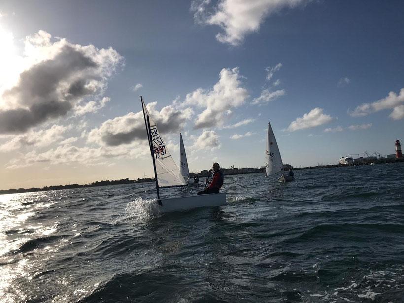 Wind und Welle an der Warnowmündung