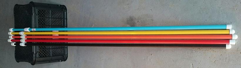 五色のポール