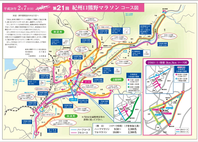 口熊野マラソンコース案内