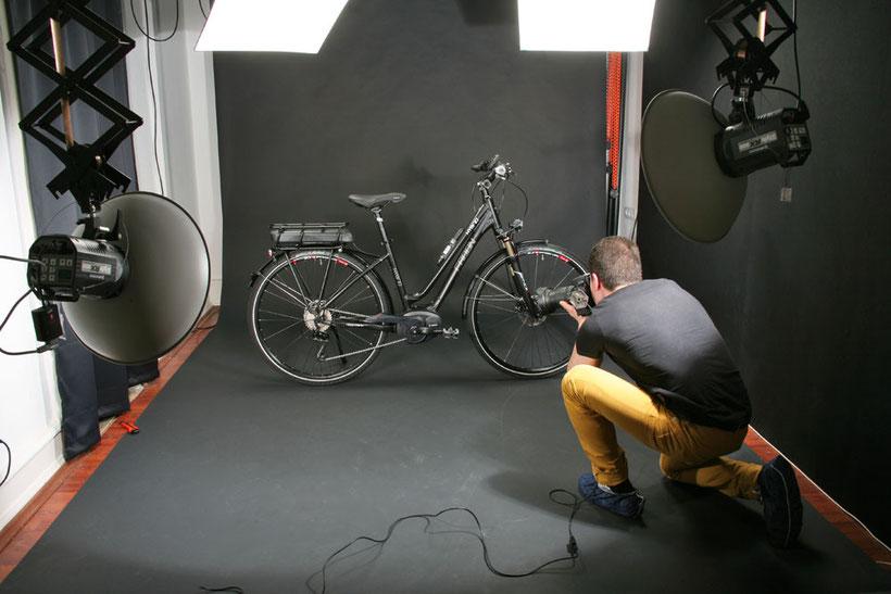 Produktaufnahmen für Radon Bikes im Studio