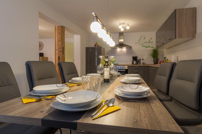 Die Küche der Ferienwohnung in Bad Harzburg