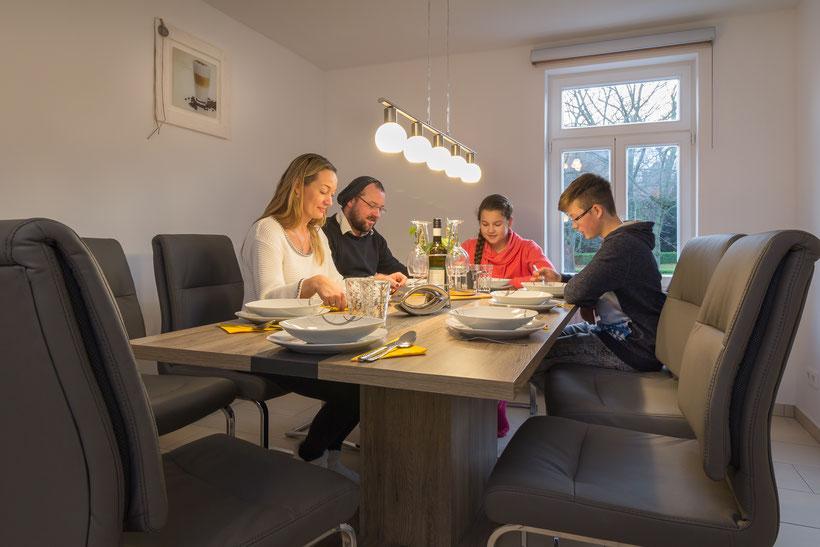 Der Essbereich der Ferienwohnung in Bad Harzburg