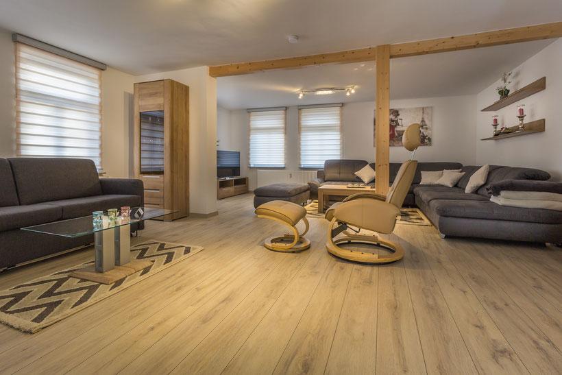 Das Wohnzimmer der Ferienwohnung Bad Harzburg