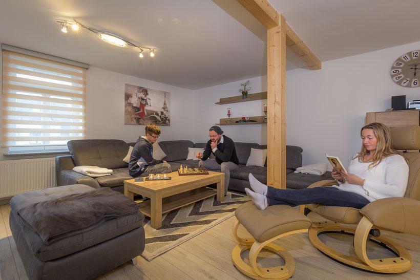 Das Wohnzimmer der Ferienwohnung in Bad Harzburg