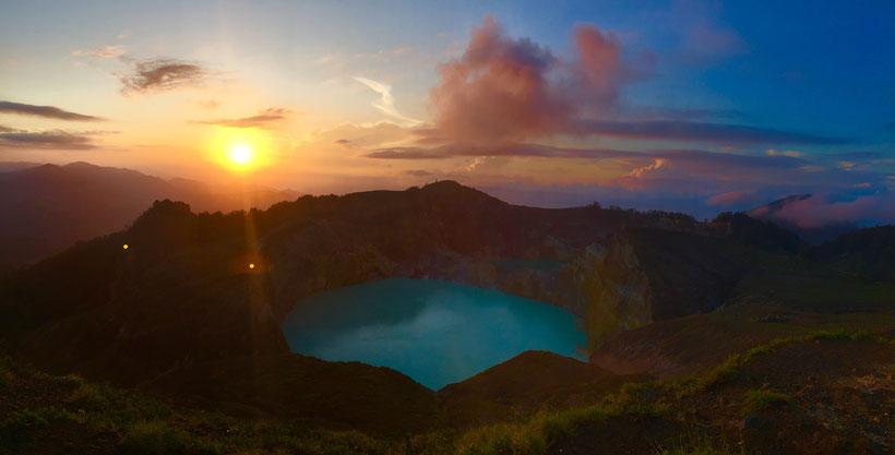 Kelimutu Sonnenaufgang
