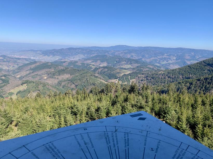 Blick auf Durbach vom Mooskopf