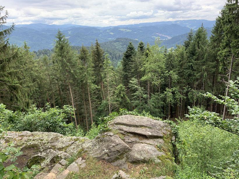 Blick von der Hohenlochenhütte auf dem Westweg