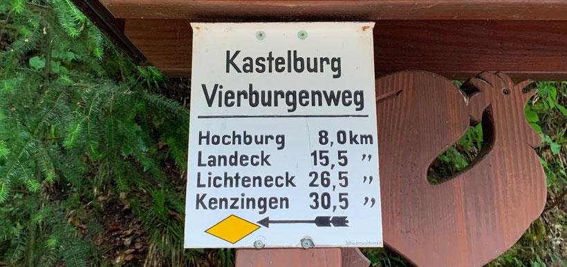 Geschafft! Burg vier von vier: Die Kastelburg bei Waldkirch