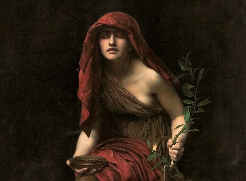 pitia; pitonisa; Delfos; Apolo; oráculo de Delfos; sibilas;