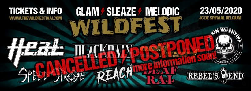 Festival, WildFest, 2020, Belgium, Sleaze, Glam, Hard Rock, Rockers And Other Animals, News, Covid19, coronavirus, cancelled, postponed