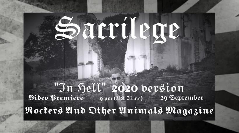 sacrilege, in hell, video premiere, preview, rockers and other animals magazine, valeria campagnale, bill beadle, neil turnbull, jeff rolland, tony vanner, paul macnamara, nwobhm, heavy metal, heavy rock, UK, british metal