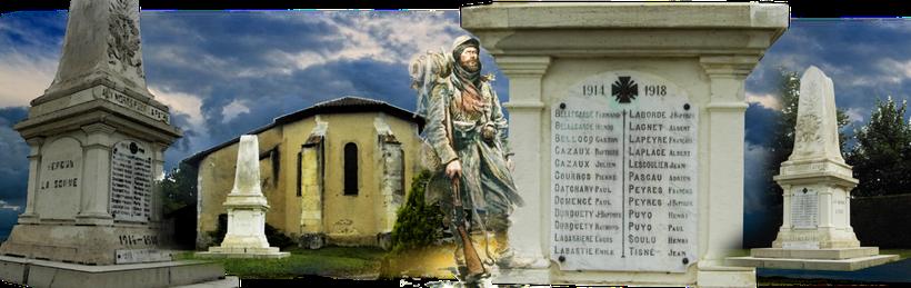 Bélus, pays d'Orthe, landes, aquitaine, sud-ouest, Grande Guerre, 1914-1918, monument aux morts, Craonne, Verdun, Chemin des Dames,  Poilu, Mort pour la France, Somme, tranchée