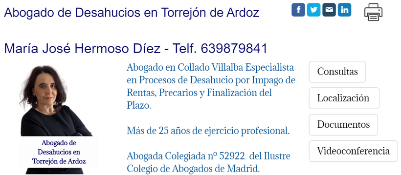 Abogado de Desahucios por Impago de Rentas en Torrejón de Ardoz