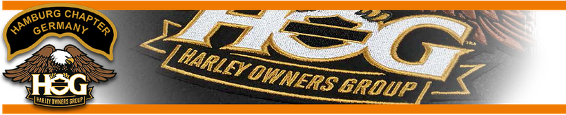 Menügrafik: H.O.G. CHARTA - Lizenzbedingungen für lokale Chapter - Hamburg Chapter Germany   Lokales Harley-Davidson Chapter in Hamburg