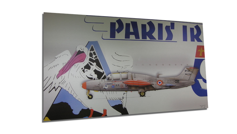 Print aluminium aérographies aviation