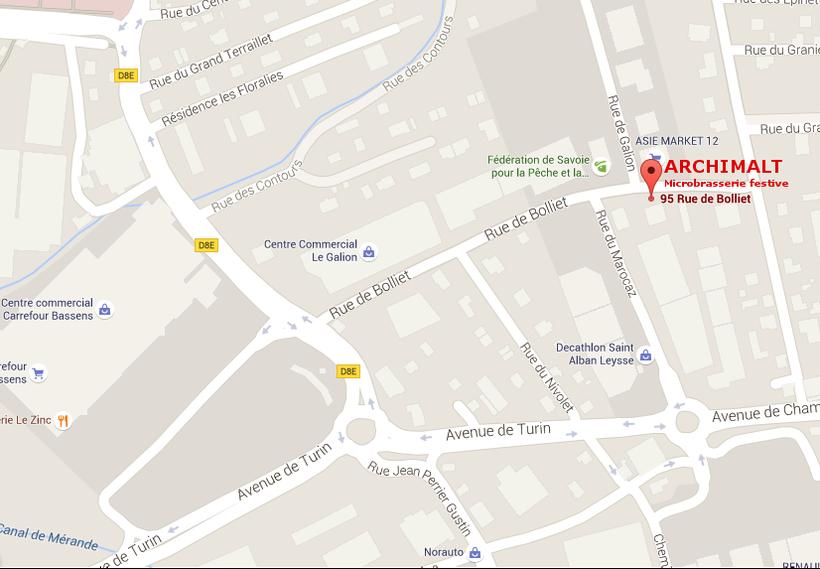 Vous allez nous trouver derrière Décathlon, proche de Chambéry et  Carrefour Bassens.
