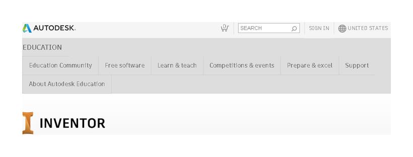 Auf der Autodesk® Website kann sich kostenlos als Student registrieren
