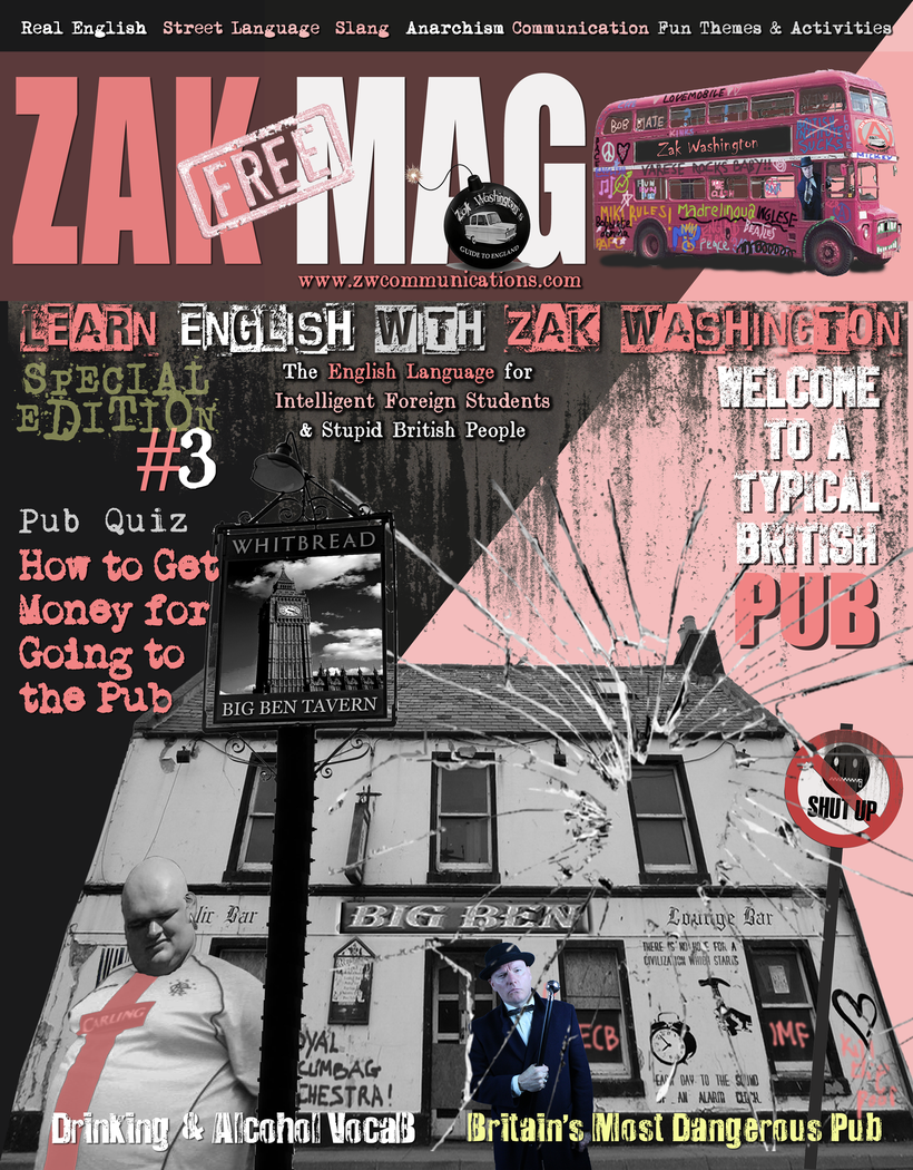 Cover of ZAKMAG magazine efl, elt, esl, tefl and tesol magazine by Miki Pannell.