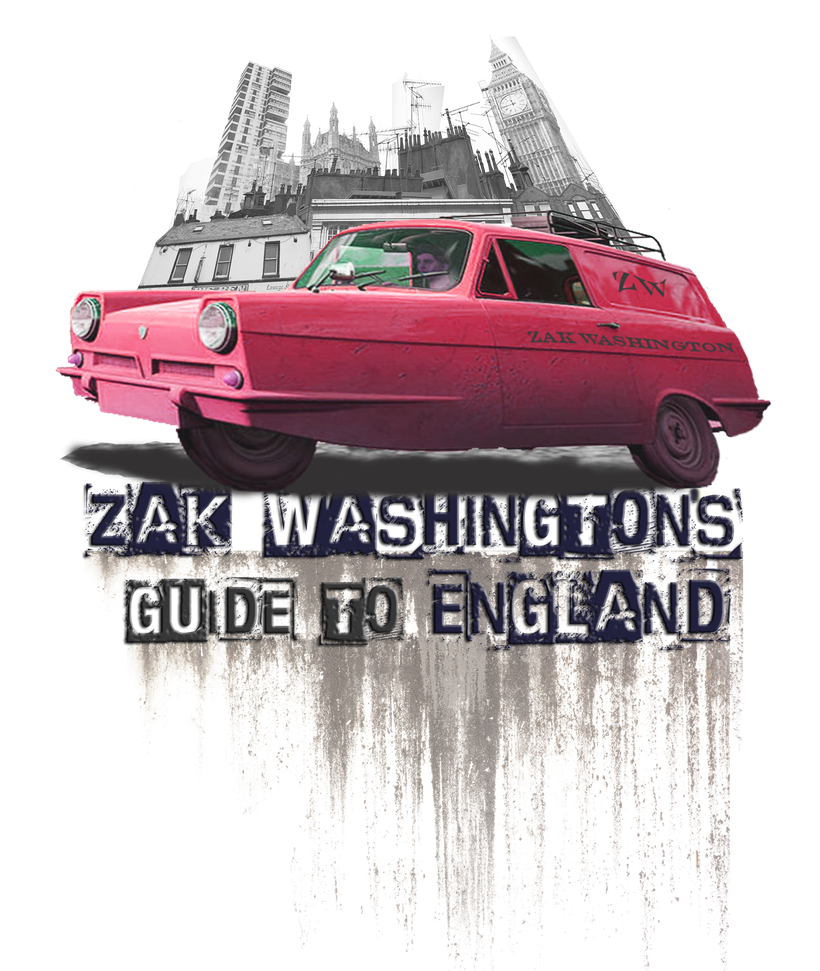 Learn English with Zak Washington. Logo. Zak Washinton's Guide to England