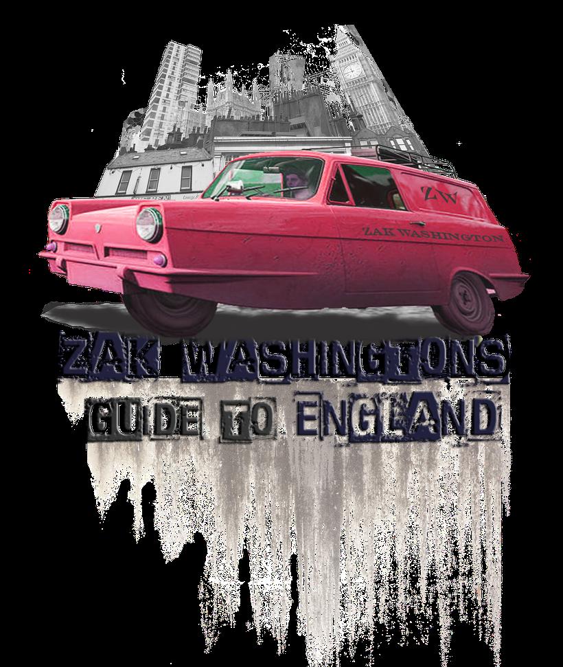 Learn English with Zak Washington. Logo. Zak Washinton's Guide to England