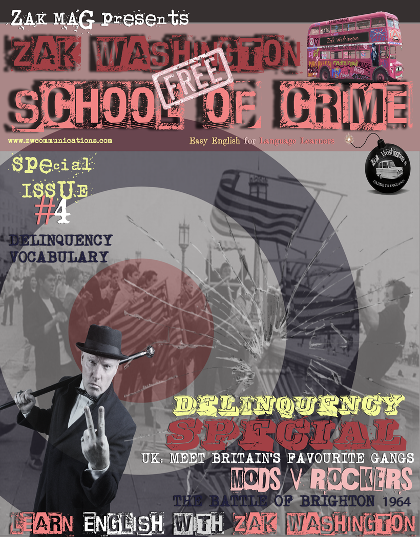 Link to copy of the magazine 'Zak Washington School of Crime'