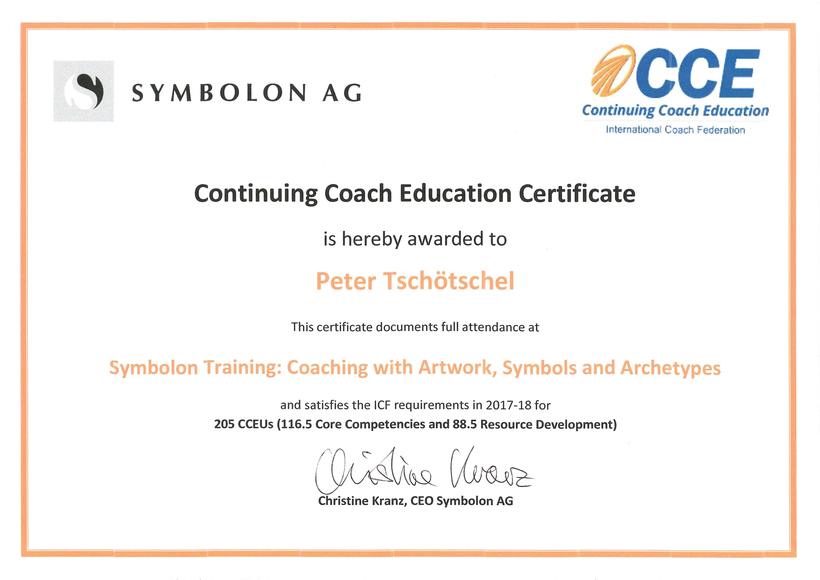 Zertifikat Symbolon