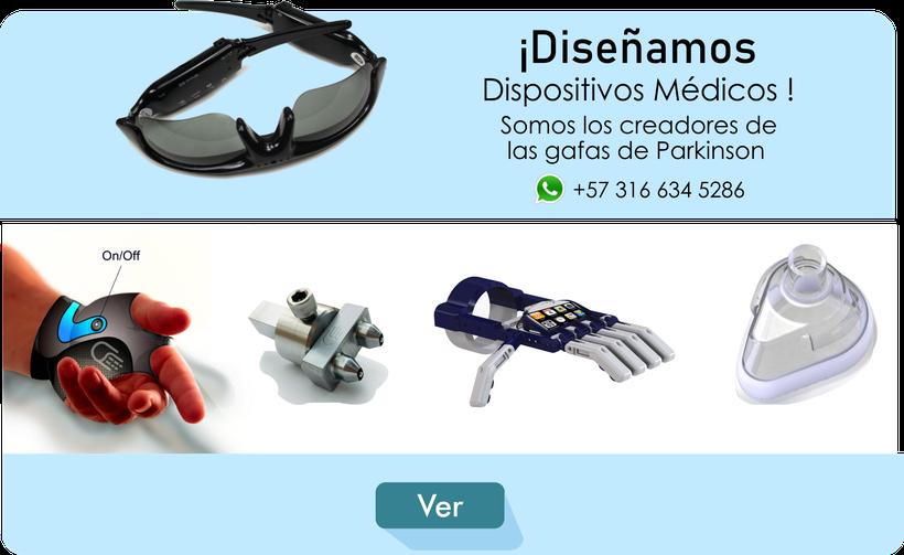 Diseño de dispositivos médicos. Somos los creadores de las gafas de Parkinson. Invierte en nuestros proyectos, aporta, donación, ayuda a los demás, innovación tecnología, human bionics