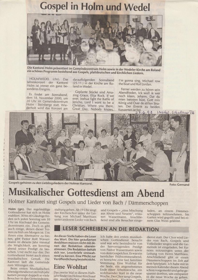 Gospel in Holm und Wedel 2000