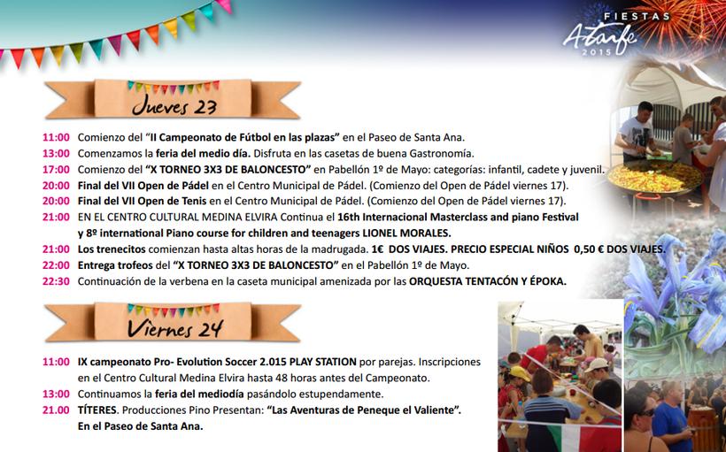 Fiestas de Atarfe 2015 Programa