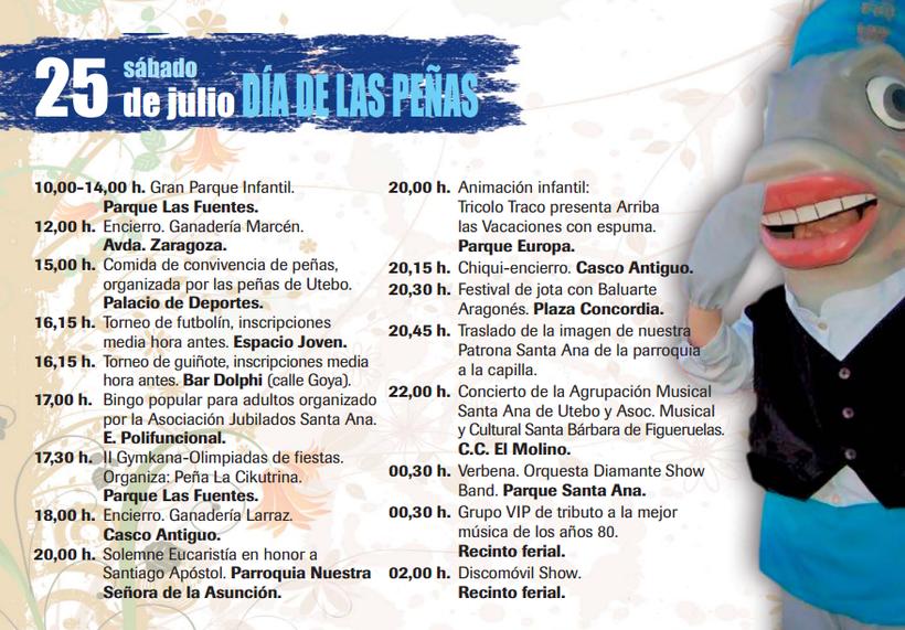 Fiestas de Santa Ana en Utebo 2015 Programa