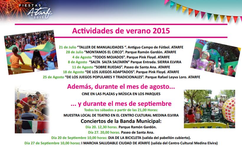 Actividades de verano 2015 en Atarfe