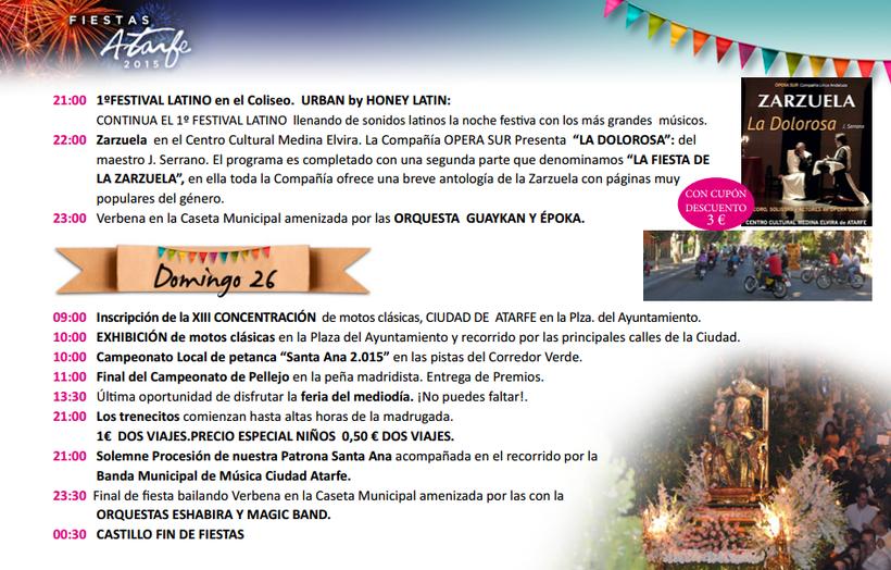 Programa de las Fiestas de Atarfe 2015