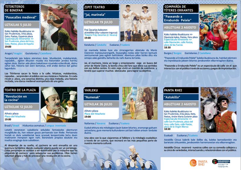 Programa Titereando 2015 Festival de Títeres en Vitoria Gasteiz