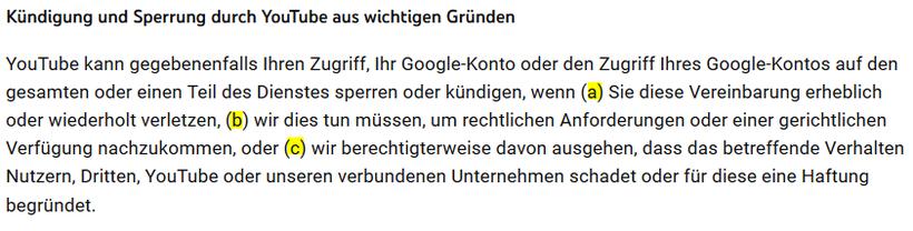 YouTube Kanal gesperrt strike Sperre unberechtigt was tun - Rechtsanwalt Sven Nelke