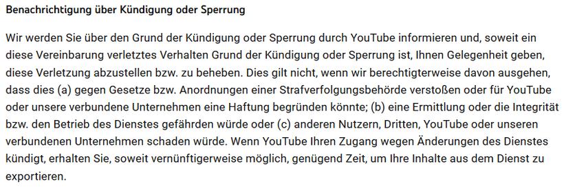 YouTube Kanal Konto gesperrt gekuendigt ausgesetzt nicht mehr zugreifen - Rechtsanwalt Sven Nelke
