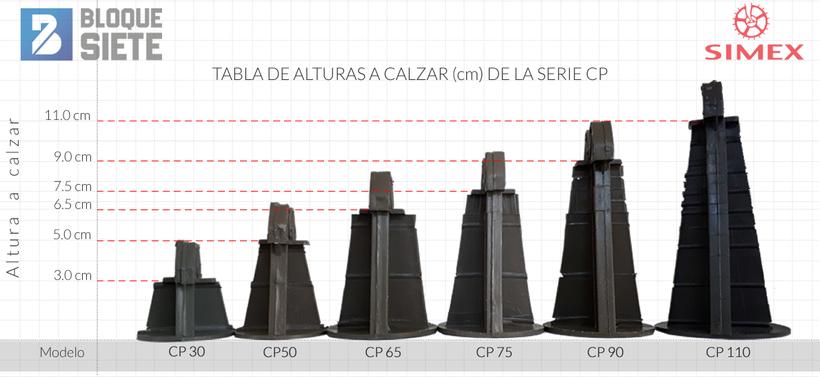 Silletas piramidal Simex serie CP para cimentaciones y pisos