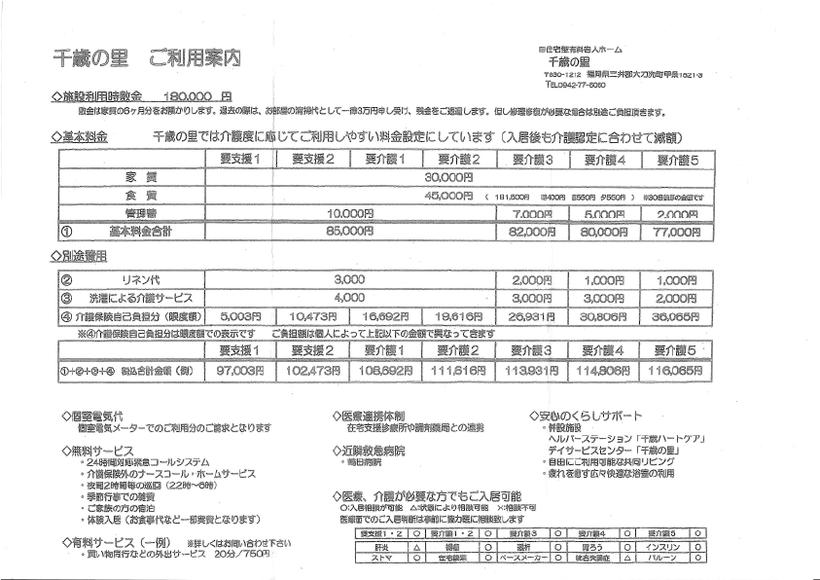 施設利用料金 180,000円~基本料金等