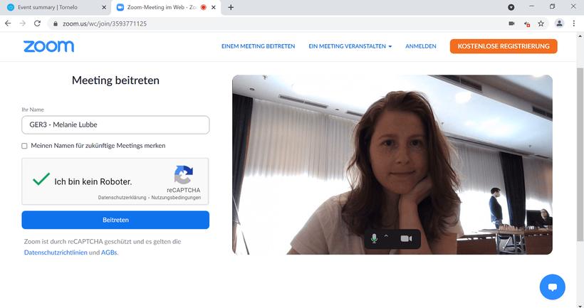 Hybridschach, Zoom als Videokonferenzsystem, Mitropa-Cup 2021