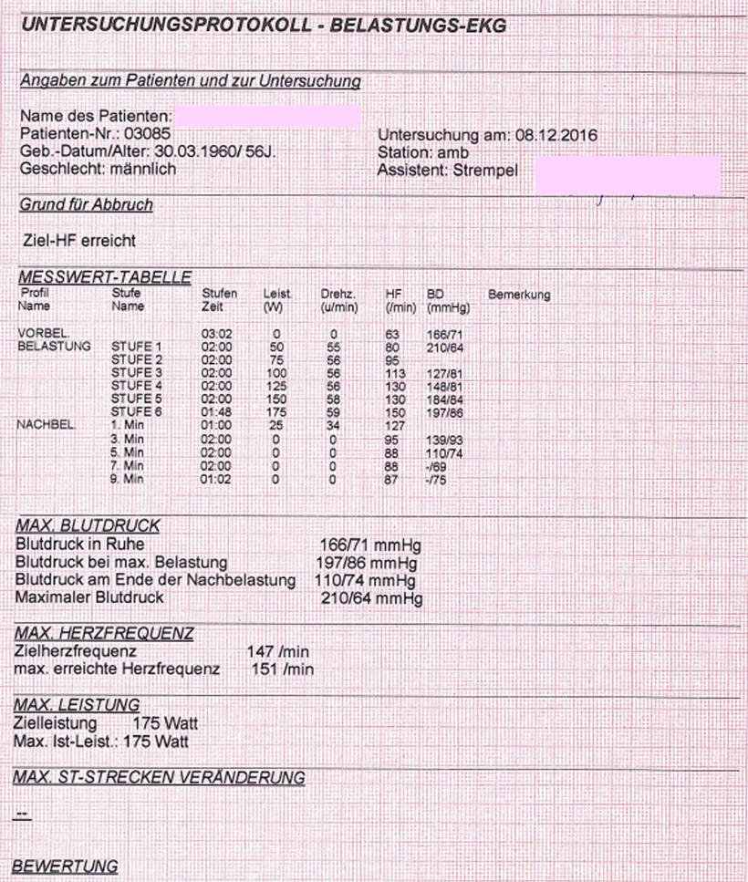 EKG Protokoll