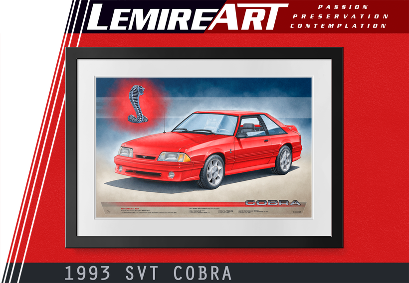 1993 SVT Cobra artwork, 1993 SVT Cobra drawing
