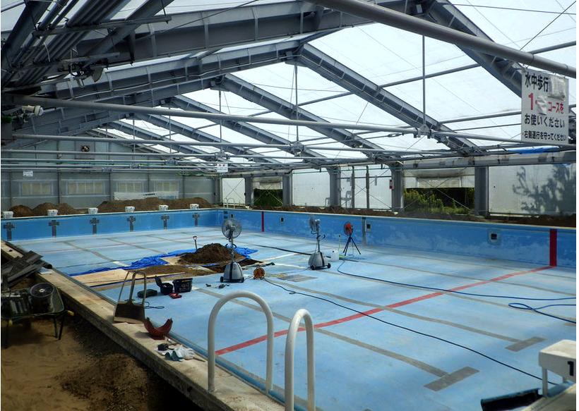 アルミ製プールの部品交換工事