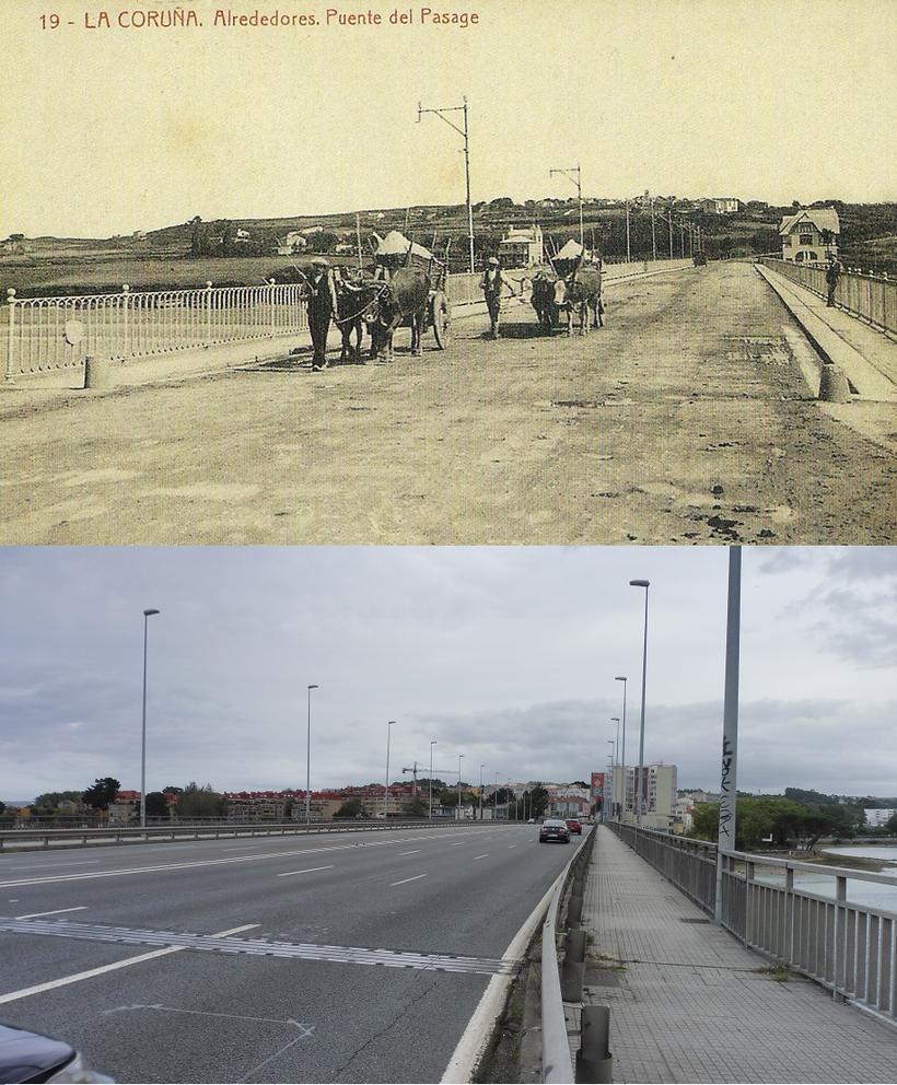 Ponte da Pasaxe en la N-VI en A Coruña