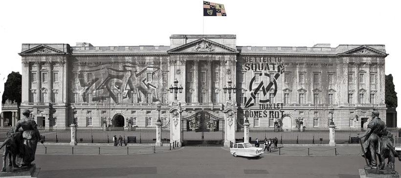 Buckingham Palace graphic for full online course for learning English